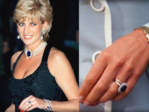 Vintage oval ruby and diamond engagement ring diamond engagement - Kate Middleton Receives Princess Diana S Engagement Ring