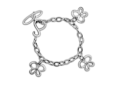 Jessica Simpson Diamond Charm Bracelet in Sterling Silver