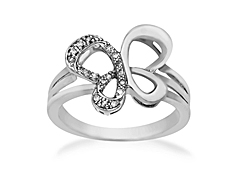 Jessica Simpson Diamond Butterfly Ring