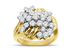 2 ct Round-cut Diamond Ring in 14K Gold