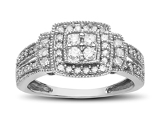 1/2 ct Diamond Ring in 10K White Gold