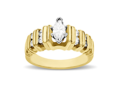 7/8 ct Diamond Engagement Ring in 14K Gold