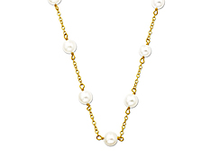 Freshwater Pearl Necklace in 14K Gold