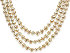 60-Inch Ringed Pearl Strand Necklace