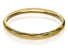 Etched Bangle in 18K Gold over Sterling Silver