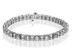 3 ct Diamond Tennis Bracelet in 14K White Gold