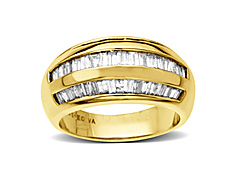 1 1/2 ct Baguette-cut Diamond Anniversary Ring in 14K Gold