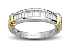 1/2 ct Diamond Anniversary Ring in Platinum and 18K Gold
