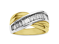 1 ct Diamond Anniversary Ring in 14K Two-Tone Gold