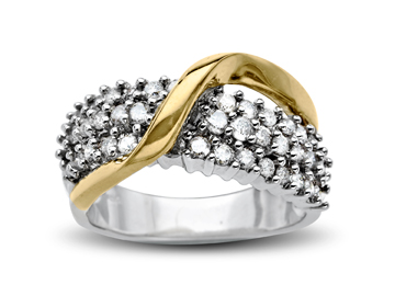 1 ct Diamond Ring in 10K Two-Tone Gold from Jewelry.com