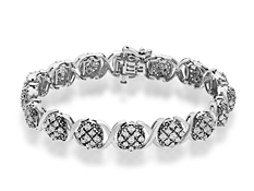 1 ct Diamond Bracelet in Sterling Silver
