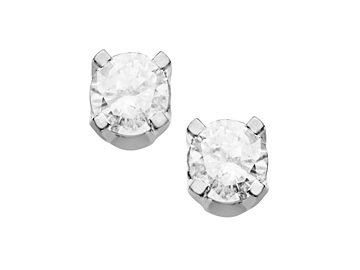 1/5 ct Diamond Stud Earrings in Sterling Silver