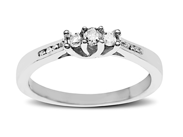 1/5 Carat Diamond Ring in Sterling Silver from Jewelry. com