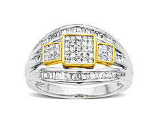 3/4 ct Diamond Ring in 14K Two-Tone Gold