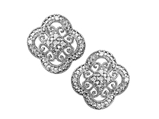 1/10 ct Diamond Earrings in Sterling Silver