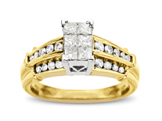 1 ct Diamond Ring in 14K Two-Tone Gold