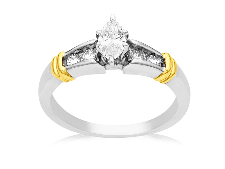 1/2 ct Diamond Engagement Ring in 14K Two-Tone Gold from Jewelry. com