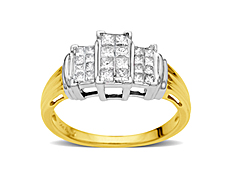 3/4 ct Diamond Anniversary Ring in 14K Two-Tone Gold
