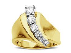 3/4 ct Diamond Journey Ring in 10K Gold