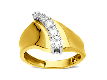 1/2 ct Diamond Ring in 10K Gold from Jewelry.com