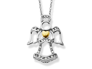 Angel Pendant w/ Diamonds