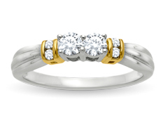 1/3 ct Diamond Duo Ring in 14K Two-Tone Gold