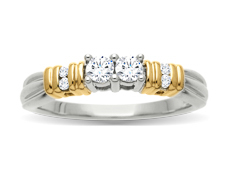 1/4 ct Diamond Duo Ring in 14K Two-Tone Gold