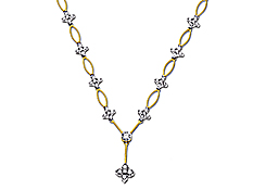 1 ct Round-cut Diamond Necklace in 14K Gold