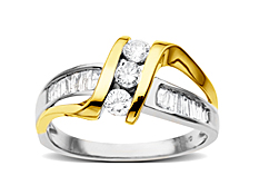 5/8 ct Diamond Ring in 14K Two-Tone Gold