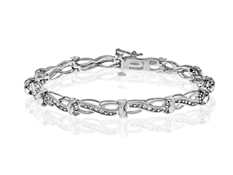 1/5 ct Diamond Link Bracelet in Sterling Silver