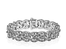 1 ct Diamond Braid Bracelet in Sterling Silver