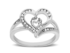 1/10 ct Diamond Mother's Jewel Ring in Sterling Silver