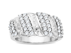 1 ct Diamond Ring in 14K White Gold