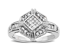 3/8 ct Diamond Ring in 14K White Gold
