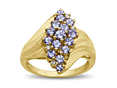 1 1/6 ct Tanzanite Ring with Diamonds in 14K Gold