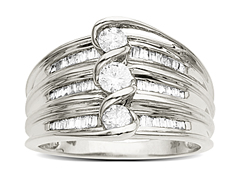 3/4 ct Diamond Ring in 14K White Gold