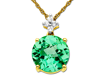 Sapphire necklaces on sale 1232012 bling bargains green sapphire pendant in 14k gold aloadofball Image collections