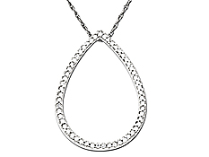 1/3 ct Diamond Pendant in 14K White Gold