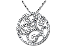 3/8 ct Diamond Circle Pendant in 14K White Gold