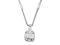 3/4 ct Diamond Necklace in 14K White Gold