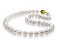 Akoya Pearl Strand Necklace with 14K Gold Clasp