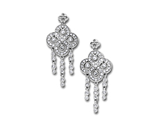 1 ct Diamond Chandelier Earrings in 14K White Gold