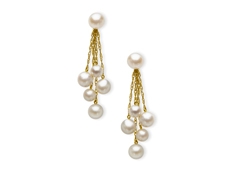 Pearl Drop Earrings in 10K Gold