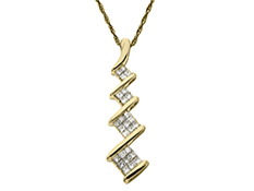 3/8 ct Diamond Pendant in 14K Gold