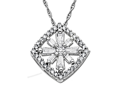 3/8 ct Diamond Pendant in 14K White Gold