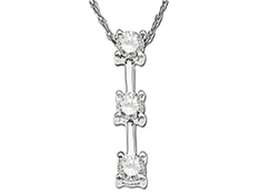 5/8 ct Diamond Pendant in 14K White Gold