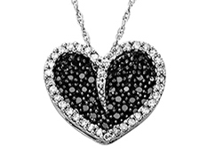 3/8 ct Diamond Heart Pendant in 14K White Gold