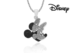 Disney's Minnie Mouse Pendant with Diamond in Sterling Silver