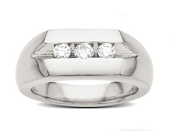 1/2 ct Diamond Men's Ring in Palladium from Jewelry.com