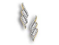 1/4 ct Diamond Twist Earrings in 10K Gold